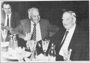 Mastermind of the KGB counter intelligence operation Jānis Lukašēvičs (in the middle) and SIS double agent Kim Philby (right) . Riga November 1987
