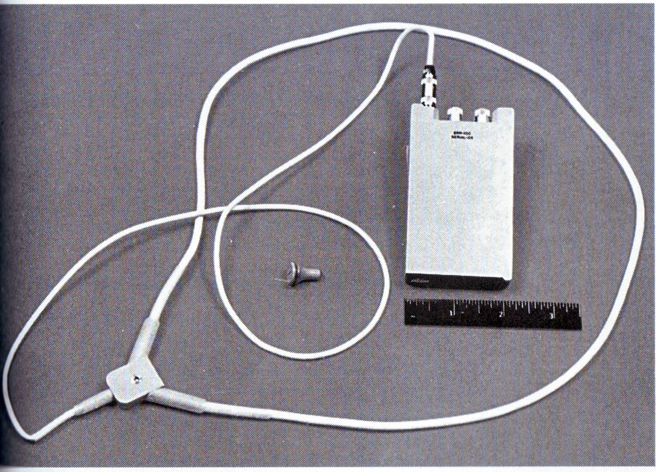 Radio receiver for scanning KGB communications that Martha Peterson wore on her belt when was arrested